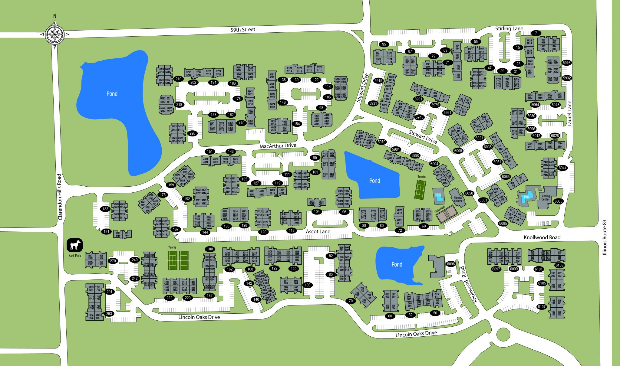 TGM Willowbrook Apartments Map